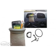 Biege Pouch Mobile Pen iphone ipod Holder Mount for Car AC vents