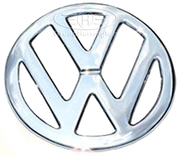 VW Bus Split Screen Stainless Steel Front Badge