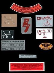 Volkswagen Beetle classic stickers decals OEM quality