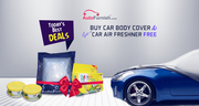 Free Car Perfume Set With Autofurnish Car Body Cover For Maruti Swift
