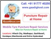 Doorstep Bike, Car Tube Tyre Puncture Repair in Hitech City