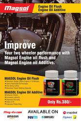 Magsol 2W Fuel Tank Additive & Magsol 2W Engine Oil Additive Combo Pac